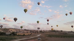 Flying Balloons In Cappadocia 13/13 Stock Footage