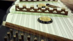 Close-up of musician playing dulcimer Stock Footage