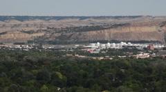 Billings, Montana Cityscape pan Stock Footage