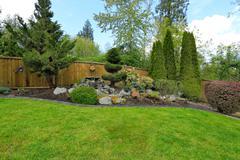 idea for backyard landscape - stock photo