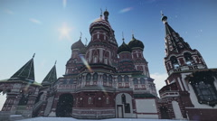The Cathedral of Vasily the Blessed in Moscow, Russia. Stock Footage