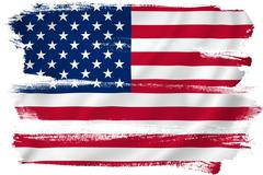 American flag backdrop - stock illustration