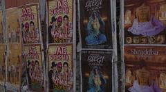 Mumbai B roll - Posters Stock Footage