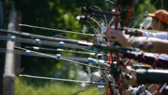 HD - Archery. tournament Stock Footage