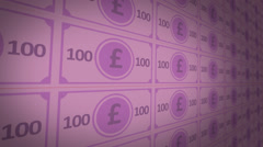 Video Shot Of Hundred Pounds Notes - stock footage