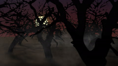 Spooky Halloween Haunted House On mäkeä kuun Ghosts mysteeri kartano Arkistovideo
