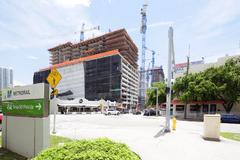 Brickell City Center construction site Stock Photos