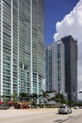 Buildings at Downtown Miami Florida - stock photo
