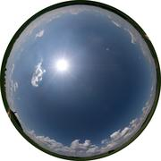 Allsky 360x190 degrees Fisheye Image - Summersky (Allsky / Fulldome / Texture) - stock photo