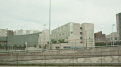 Ghetto Section of the Bronx in New York City from Train - NYC Poverty Stock Footage