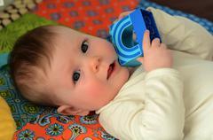 baby awake - stock photo
