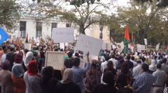 Palestinian protesters in Washington, DC Stock Footage