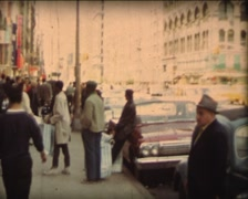8MM USA New-York City pedestrians in the street - 1968 - 3 - stock footage