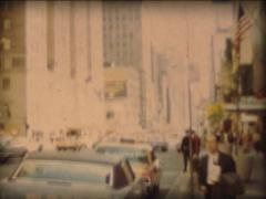 8MM USA New-York City pedestrians and traffic in the street - 1968 - 2 - stock footage