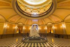 california capitol rotunda sacramento - stock photo