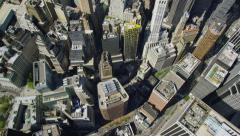 Aerial view above New York City Stock Footage