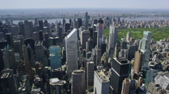 Aerial view of New York City & Central Park Stock Footage