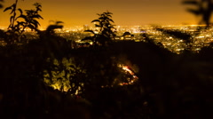 4K Motorized Timelapse on Downtown Los Angeles and Griffith Observatory Night Stock Footage