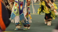 Pow wow feet dancing like crazy Stock Footage