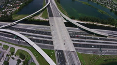 Highway Traffic system Aerial Stock Footage
