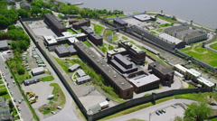Prison correctional facility New York City Stock Footage