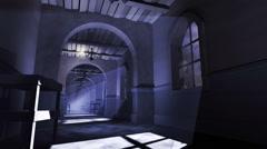 Haunted corridor old house loop Stock Footage