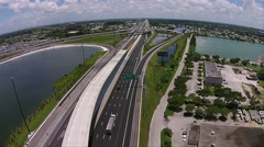 Highway Traffic system Aerial #5 Stock Footage