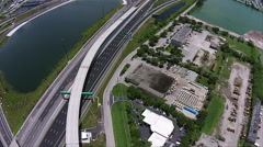 Highway Traffic system Aerial #4 Stock Footage