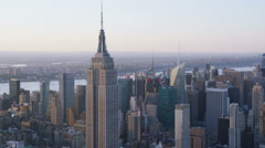 Circling Empire State Building New York City Stock Footage