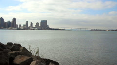 San Diego Bay from Harbor Island, 1080p Stock Footage