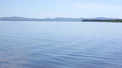 Lake Shira still blue water Stock Footage