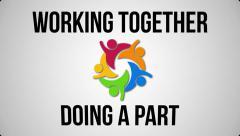 Teamwork concept definition Stock Footage
