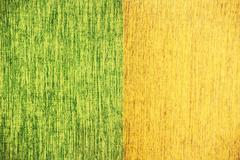 close up noise line yellow green fabric texture - stock photo