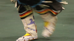 Pow Wow dancer's feet dancing Stock Footage