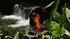 1935 Fire and Waterfall in Slow Motion - stock footage