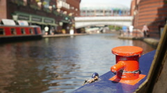 Birmingham city centre canals, Brindley Place. Stock Footage