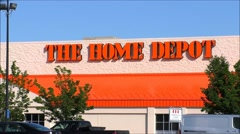 Home Depot signage Stock Footage