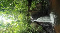 Rainforest waterfall in the Ecuadorian Amazon Stock Footage