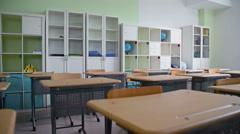 Classroom Interior Stock Footage
