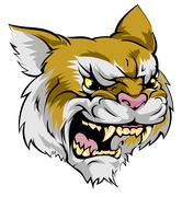 wildcat mascot character - stock illustration
