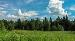 Clouds time lapse. movement of the clouds in the sky. sky Siberia Stock Footage