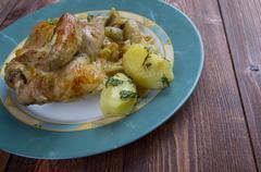 Stock Photo of poulet aux oignons