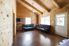 Log Home Interior Stock Photos