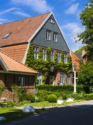 Panker, Manor Panker, Hotel and Restaurant Ole Liese - stock photo