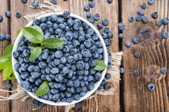 Fresh harvested blueberries Stock Photos