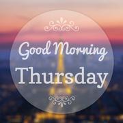Good morning thursday on eiffle paris blur background Stock Illustration
