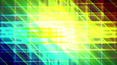 4K Prismatic grid star abstract background loop, rgb, 3 bright Stock Footage