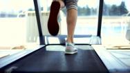 Stock Video Footage of Running on a Treadmill