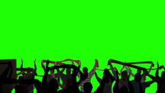 Layered Crowd Green Screen Arkistovideo