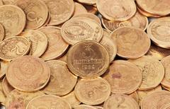 Old  dirty ussr coins closeup Stock Photos